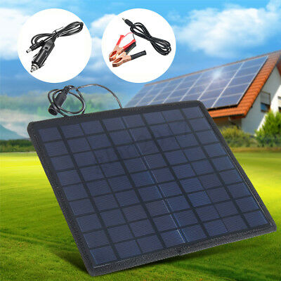 18V 12V Car Boat Yacht Solar Panel Trickle Battery Charger Outdoor Power