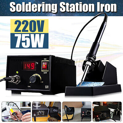 75W Soldering Iron Station Electric Rework Weld Holder 110-220V 967 LCD Display