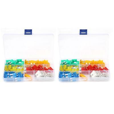 120Pcs Multicolor Profile Small Size Mini Blade Fuse Assortment Auto Fuses Set
