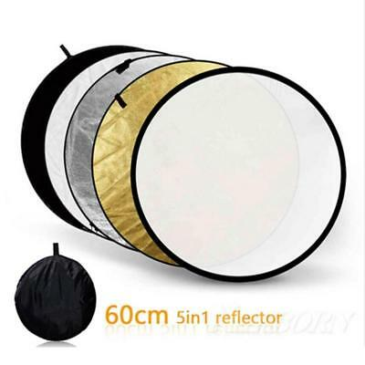 5 in 1 60cm Photography Studio Collapsible Multi Disc Photo Light Reflector