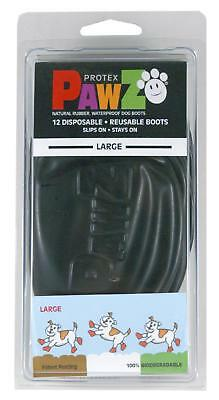 PawZ Protex Dog Boots Water-Proof Paws Disposable Reusable Large Black