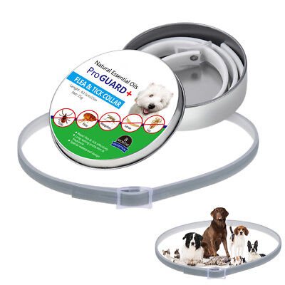 Pro Dog Collar Tick Flea Anti Insect Mosquitoes Waterproof Long Lasting 8 Months