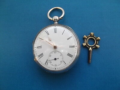 Stunning Solid Silver 18s Waltham Pocket Watch Circa 1882