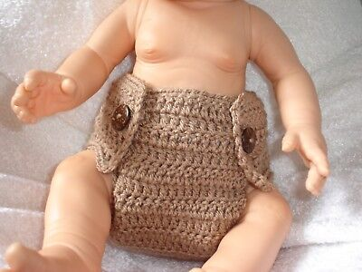 HANDMADE Crochet Knitted Baby Nappy Diaper Cover / Photo Prop / Baby summer wear