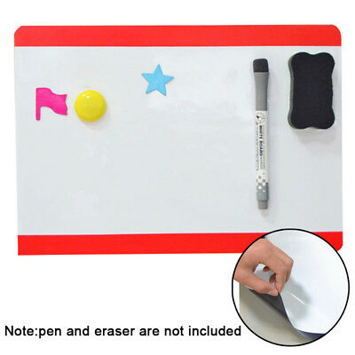 Magnetic Board Whiteboard A4 21x30cm PVC Gift For Drawing Message Fridge Refrige