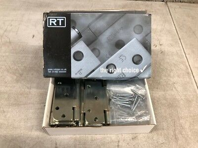 Royde and Tucker H102 Hi-Load Triple Knuckle Butt Hinge 100mm Zinc Plated Box 10