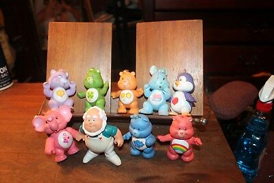 """1984 Vintage Lot of 9 Care Bears Poseable Figures Kenner 3"""""""