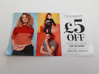 £5 off Peacocks Voucher / Money off Coupon / Code valid till 23/02/19