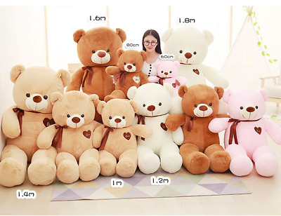 UK Large Teddy Bear Giant Teddy Bears Big Soft Plush Toys Kid 60/80/100cm Gifts