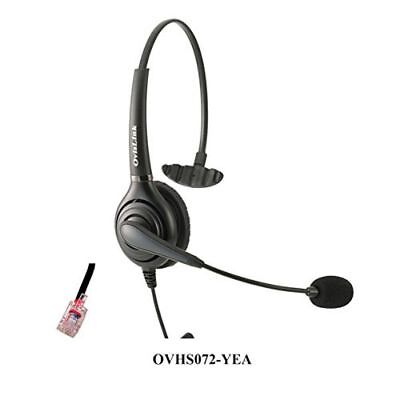 OvisLink Corded Noise Canceling Yealink Headset | Call Center RJ9 Headset Comple