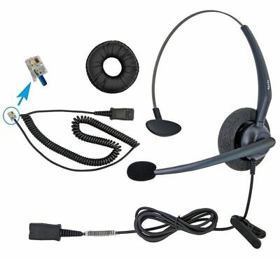DailyHeadset RJ9 Mono Corded Noise Cancelling Microphone Phone Headset for Grand