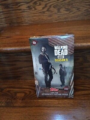 One 2016 Topps Walking Dead Season 5 Factory SEALED Trading Card HOBBY Box