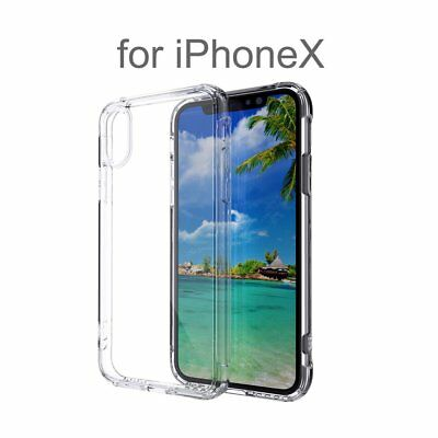 Ultra-thin Clear TPU+Acrylic Hybrid Shockproof Bumper Case Cover For iPhone X A9