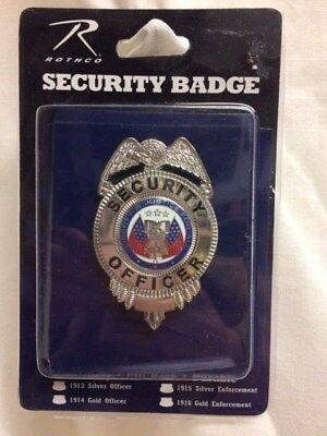 Rothco Security Officer Bagde Silver
