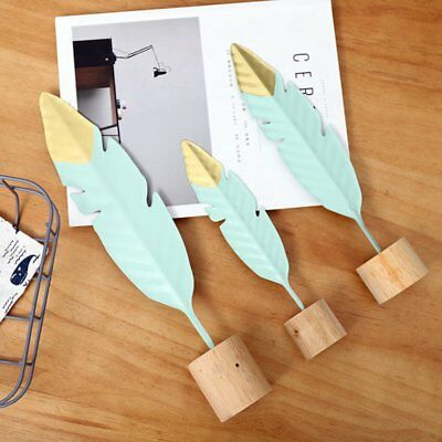 Creative Wrought Iron Feather Bedroom Metal home Decoration Ornaments? QK