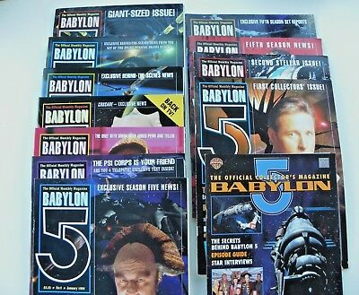 Babylon 5 Magazine First Collector's 11 Issues Complete With Photocards