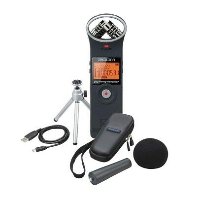 Zoom H1 Bundle / Handy Recorder (Audiorecorder) inkl. Zubehörpaket