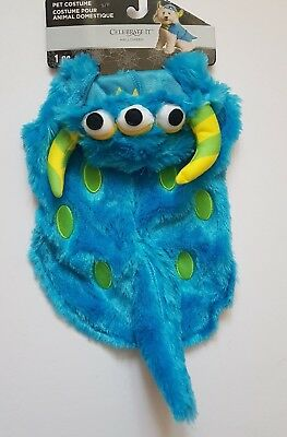 Pet Dog Furry Colourful Monster Fancy Dress Costume with Hood Outfit Comedy