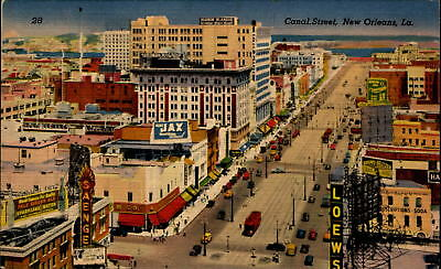 Canal Street~New Orleans Louisiana~aerial~Pale Ginger Ale & Jax advertising