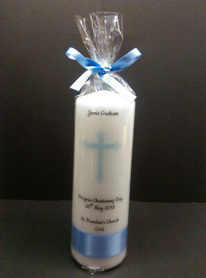 Large personalised Christening candle