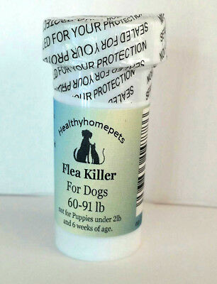 50 Capsules Instant Flea Killer Control Large Dogs 60-91lb 55mg FAST RESULTS!!