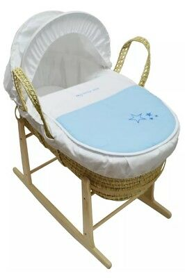 Isabella Alicia Baby Moses Basket Blue  My Little Star Palm