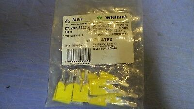 10 Wieland Terminal Block Jumpers Z7.282.5227.0 2 pole IVB WKFN 6-2.  NEW in Pac