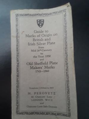 Guide to Marks of Origin on British & Irish Silver Plate, Copyright  1950