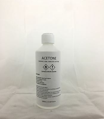 Acetone 99.9% Pure High Quality ACS/Lab Grade Nail Varnish Remover 500ml Size