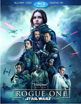 Rogue One: A Star Wars Story (3 Disc, Blu-ray + DVD) BLU-RAY NEW