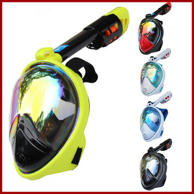 Full Face Scuba Diving Carbon Mask Snorkel Swimming Goggles Breathing Anti-Fog