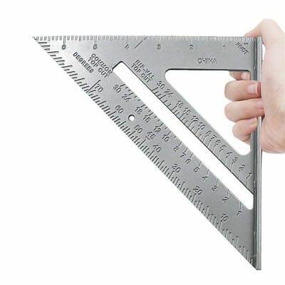 """7"""" Roofing Speed Square Aluminium Alloy Rafter Angle Measure Triangle Guide 27D"""