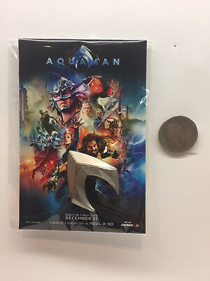 Aquaman Office Movie Promo Lapel Pin - Exclusive to Fan Event Attendees - USA