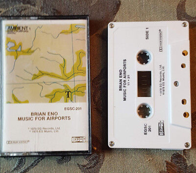 Brian Eno ‎– Ambient 1 (Music For Airports) Cassette 1978 EG ‎– EGSC-201