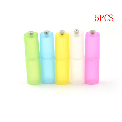 5Pcs AAA to AA Size Cell Battery box Converter Adapter Batteries Holder Case LS