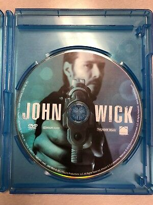 JOHN WICK DVD + Case ONLY Keanu Reeves Action Film