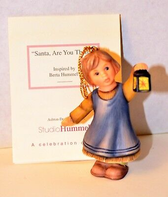 "Goebel Hummel Santa Are You There Christmas Ornament Figurine 3"" COA 2001"