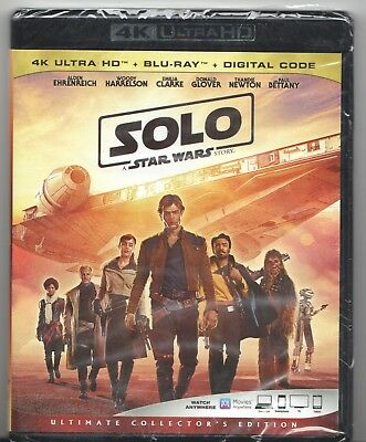 Movie Blu-ray & 4K Ultra HD - SOLO A Star Wars Story - Sealed / New