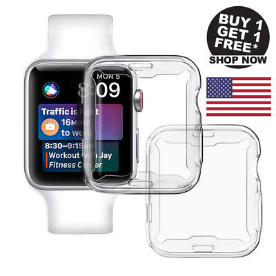 2Pcs Clear Case Screen protector 360° Full Cover For Apple Watch Series 4 (40mm)