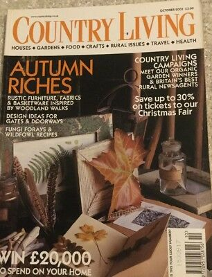 COUNTRY LIVING - Autumn Riches - October 2003