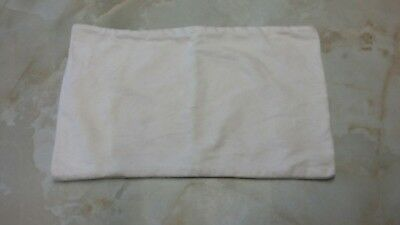 Pillow cover 100% brushed cotton 40x25cm 16x10inch White suit Clevamama baby