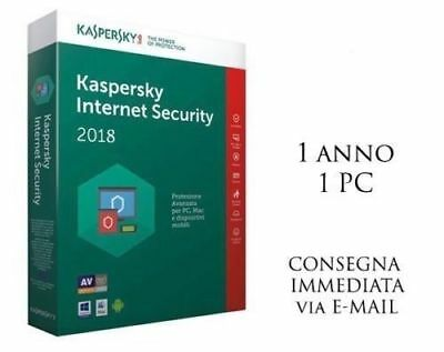Kaspersky Internet security 2019, 1 PC, 1 Anno