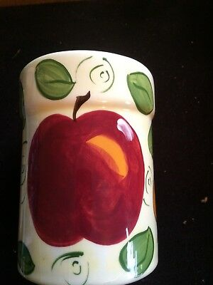 The Clayton Dickson Co Pottery Handpainted With Fruit Motif Jar