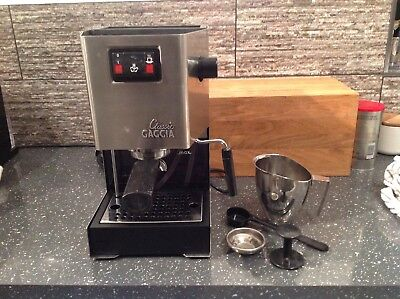 Gaggia Classic Manual Espresso Coffee Cappuccino Machine Steam Wand RI9403/11