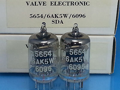 Mullard 5654 6Ak5 W Vacuum Tube Matched Pair Little Dot Hifiman Ef2A Sweet Tone