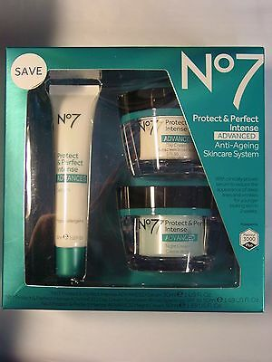 Boots No7 Protect & Perfect Intense Skincare System Kit  Exp 07/2019 New