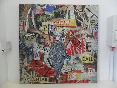 Original mixed media collage print