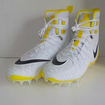 Nike FORCE SAVAGE ELITE TD Football Cleats WHITE YELLOW 857063 107 SIZE 11.5