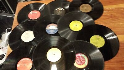"""LOT OF 10 VINYL 12"""" LP  RECORDS FOR CRAFTS DECORATIONS  wide variety-most play"""