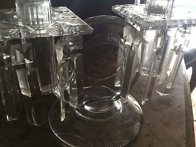 Antique Double Glass Chandelier Holder